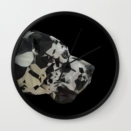 Great Dane Dogue low poly. Wall Clock