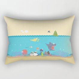 What's going on at the sea? Kids collection Rectangular Pillow