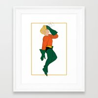 aquaman Framed Art Prints featuring Aquaman by logicasOcenenie
