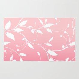 FLOWERY VINES   pink white Rug