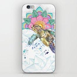 Sea Turtle Mandala & Geometric Ocean iPhone Skin