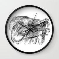 badger Wall Clocks featuring Badger by MartaDeWinter
