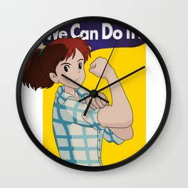 We Can Do It! (PORCO ROSSO) Wall Clock