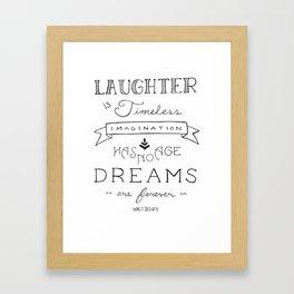 Laughter is Timeless Framed Art Print
