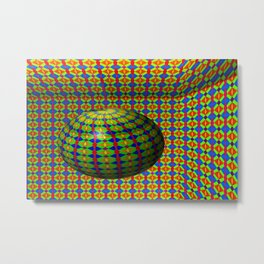 Colored pattern room with bowl Metal Print