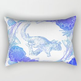 Beautiful Australian floral print with possum Rectangular Pillow