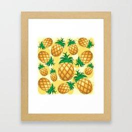 Pineapple Juicy Pattern Framed Art Print