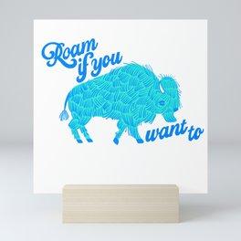 Roam Bison Mini Art Print