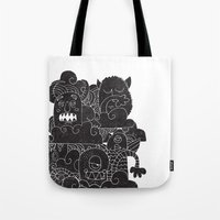 monsters Tote Bags featuring MONSTERS by Matthew Taylor Wilson