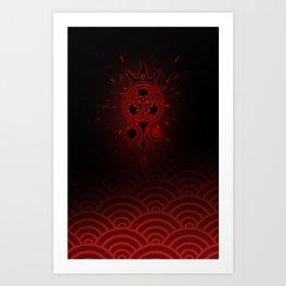 SamGen Logo - Black Art Print