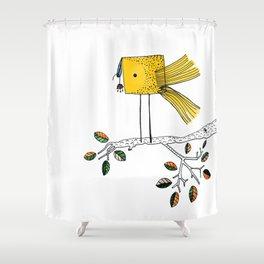 Nosy Bird Shower Curtain