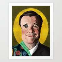 The man, the character: Nathan Lane Art Print