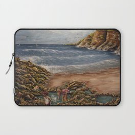 Rock Pools at Ogmore Laptop Sleeve