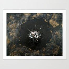 "Original Painting Art ""Black poppy"" Art Print"