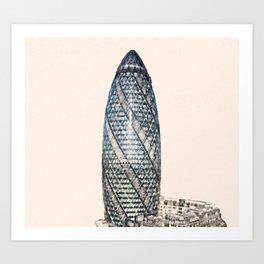 ArtWork Swiss Re London UK Painting Art Print