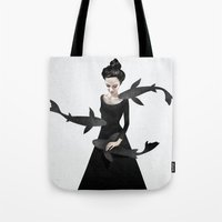 ruben Tote Bags featuring News from afar by Ruben Ireland