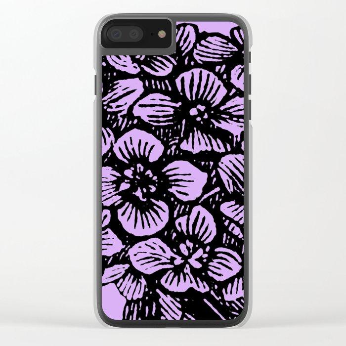 Lavender Hydrangea Clear iPhone Case