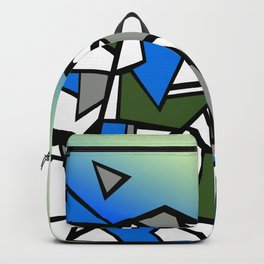 Glacier abstract blue mountain vector landscape Backpack