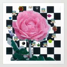MY ROSE IS KAWAII Art Print