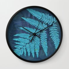 From the forest - light blue on lavender Wall Clock