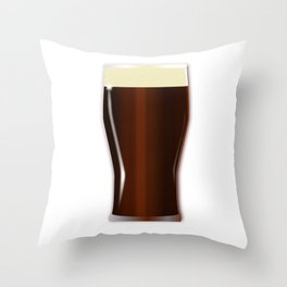 Pint Beer Glass Throw Pillow