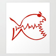 red fish Art Print
