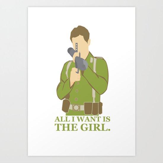 "Indiana Jones ""All I Want is the Girl"" Art Print"