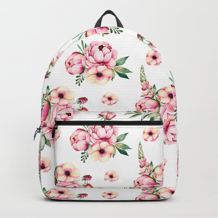 Pink Flower Party Pattern Backpack