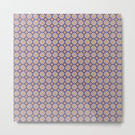 Vintage Tiles Metal Print