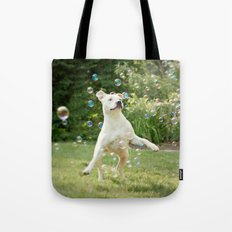 Pitbull and Bubbles  Tote Bag