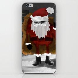 Creepy Santa iPhone Skin