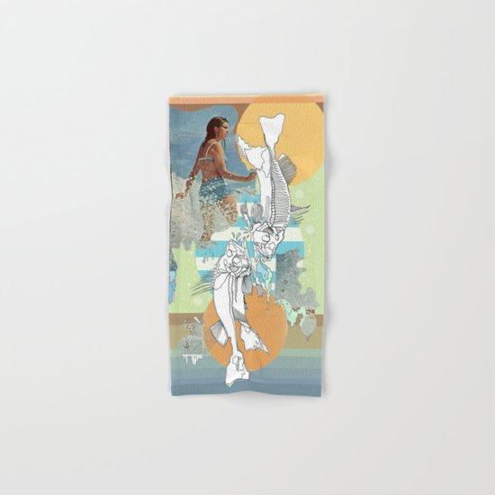 skeleton surf Hand & Bath Towel