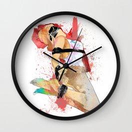 Shibari - Japanese BDSM Art Painting #6 Wall Clock