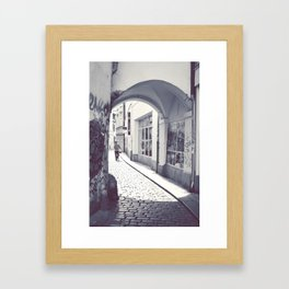 Prague streets. Framed Art Print