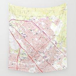 Vintage Map of San Fernando California (1966) Wall Tapestry