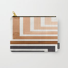 Raw Umber Mid Century Modern Watercolor Colorful Ancient Aztec Art Pattern Minimalist Geometric Patt Carry-All Pouch