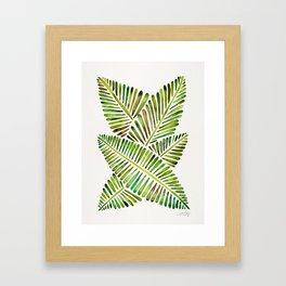 Tropical Banana Leaves – Green Palette Framed Art Print