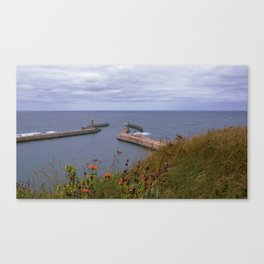 Sea scape of Whitby, England Canvas Print