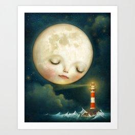 My Friend the Lighthouse Art Print