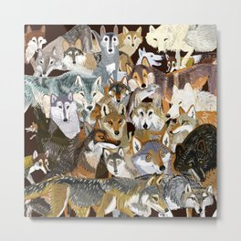 Wolves o´clock (Time to Wolf) Metal Print