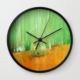 Modern Green Abstract Wall Clock