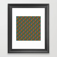 Pink Orange Aqua Oval Pattern Framed Art Print