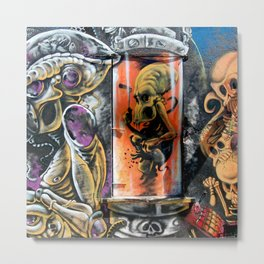 Alien Graffiti  Metal Print