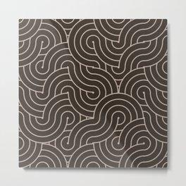SWIRL / cappuccino Metal Print