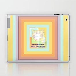 Confident Girl Creating Universal Magic Art Laptop & iPad Skin