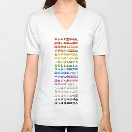 Emoji icons by colors Unisex V-Neck