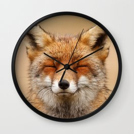 Zen Fox (Red Fox smiling) Wall Clock