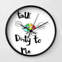 Talk Dirty Wall Clock