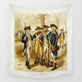 Infantry: Continental Army 1779-1783 by H.A. Ogden (1879) Wall Tapestry