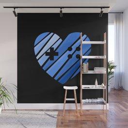 Gamer Boy Blue Wall Mural